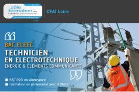 Exclusivité CFAI Loire : un BAC PRO Eleec SNCF est préparé à la rentrée 2016