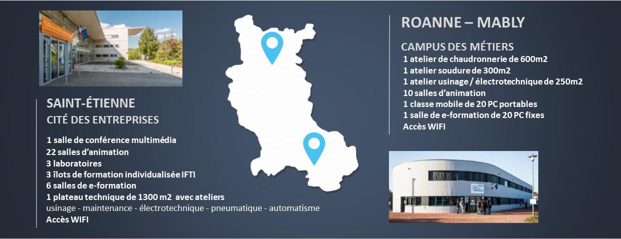 Carte CFAI Loire Roanne Saint etienne Apprentissage