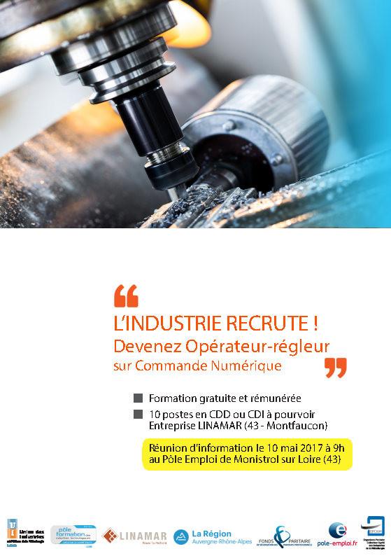 L 39 industrie recrute postes d 39 op rateurs commande num rique - Formation cuisine collective pole emploi ...