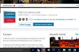 A quoi peut servir la page École Linkedin du Pôle Formation Loire ?