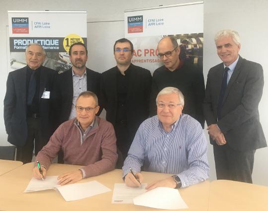 Alain SOWA, Président du CFAI-AFPI Loire et Bruno MAURIN Président de l'AFEP lors de la signature de la convention 2019