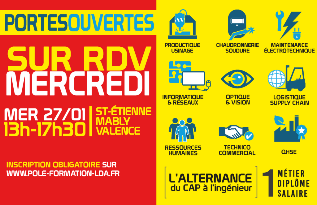Portes Ouvertes sur RDV mercredi 27 janvier 2021