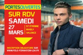 Portes Ouvertes sur RDV Samedi 27 Mars 2021