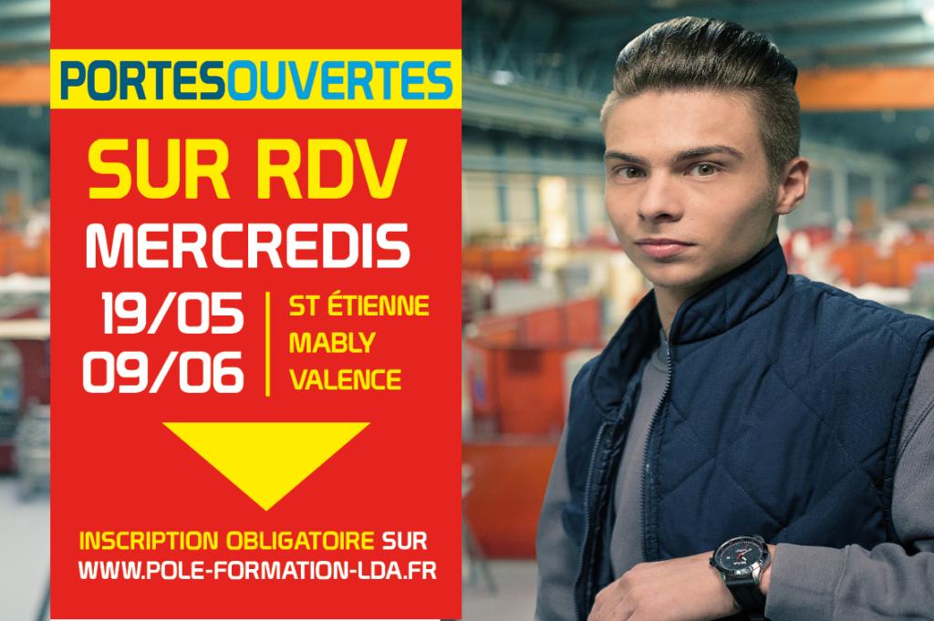 Portes Ouvertes sur RDV Mercredis 19 Mai et 09 Juin 2021