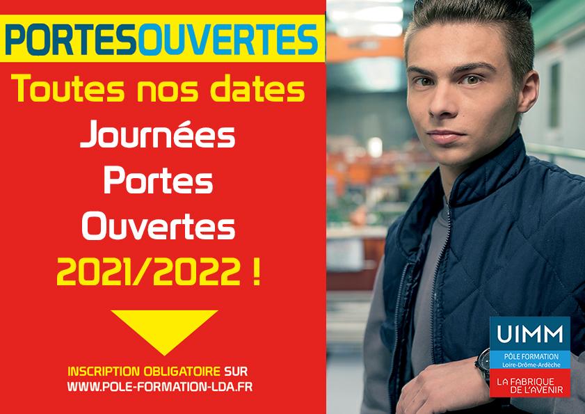 Toutes nos prochaines dates JPO 2021/2022
